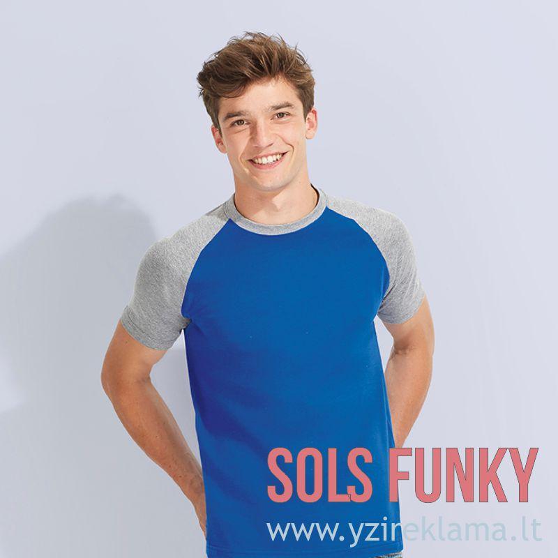Dviejų spalvų marškinėliai vyrams FUNKY